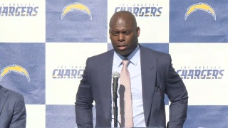 The Chargers new head coach made a funny mistake today