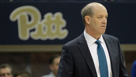 Dec 21, 2016; Pittsburgh, PA, USA;  Pittsburgh Panthers head coach Kevin Stallings looks on from the sidelines against the Nebraska-Omaha Mavericks during the second half at the Petersen Events Center. PITT won 94-75. Mandatory Credit: Charles LeClaire-USA TODAY Sports