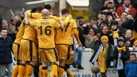 Sutton celebrate 'biggest achievement in our history' against Leeds