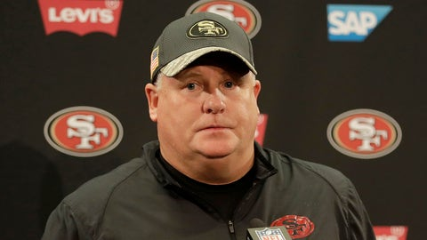 San Francisco 49ers head coach Chip Kelly speaks at a news conference after an NFL football game against the Seattle Seahawks in Santa Clara, Calif., Sunday, Jan. 1, 2017. (AP Photo/Marcio Jose Sanchez)