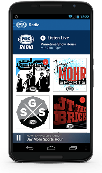 FOX Sports Listen Android app screenshot
