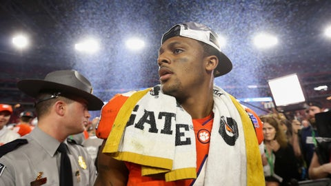 Deshaun Watson's draft stock is discussed on-air