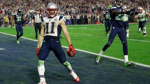 Brady hits wideout Julian Edelman for the go-ahead and game-winning score (SB XLIX vs. Seahawks)
