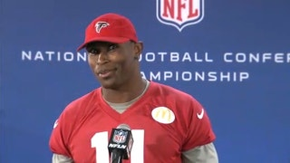 Apparently Julio Jones just learned he was playing in the NFC Championship game