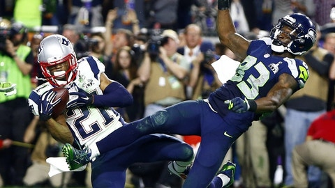 The Super Bowl XLIX football Russell Wilson should have handed to Marshawn Lynch