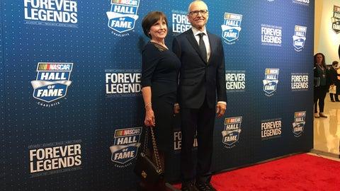 Mark Martin and wife, Arlene