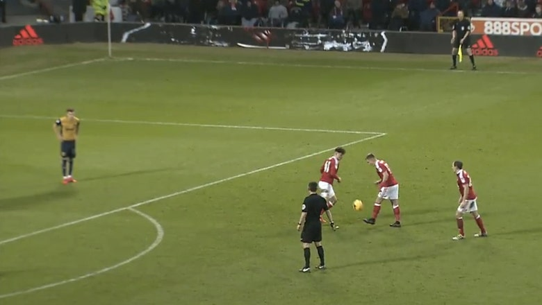 Watch this popped-up volley free kick — it's brilliant and cheeky