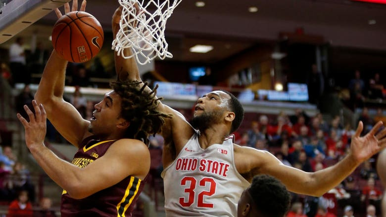 Gophers split season series, lose to Buckeyes