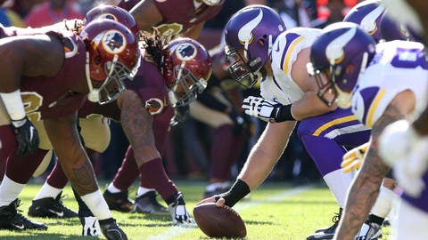 November 12: Minnesota Vikings at Washington Redskins, 1 p.m. ET