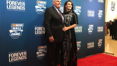 Rick Hendrick and wife, Linda