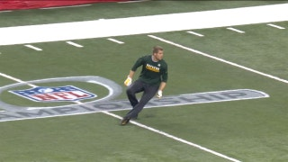 Aaron Rodgers seems to get emotional as he talks about Jordy Nelson
