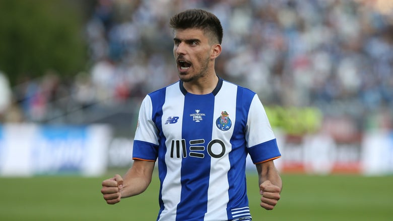 Watch this Porto starlet score an incredible double-sombrero volley goal in training