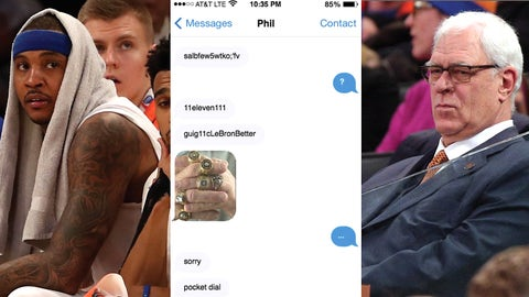 The Phil-Melo power struggle meets iMessenger.
