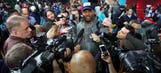 Martellus Bennett, eclectic and unfiltered, won Super Bowl Opening Night
