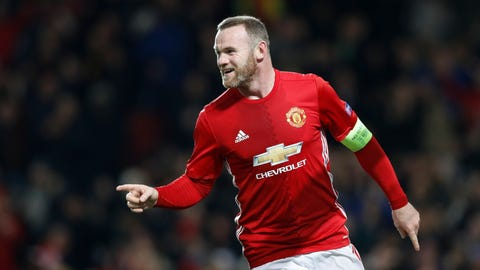 Manchester United v Feyenoord - UEFA Europa League - Group A - Old Trafford. Manchester United's Wayne Rooney celebrates scoring his side's first goal of the game during the UEFA Europa League match at Old Trafford, Manchester. Picture date: Thursday November 24, 2016. See PA story SOCCER Man Utd. Photo credit should read: Martin Rickett/PA Wire URN:29266432