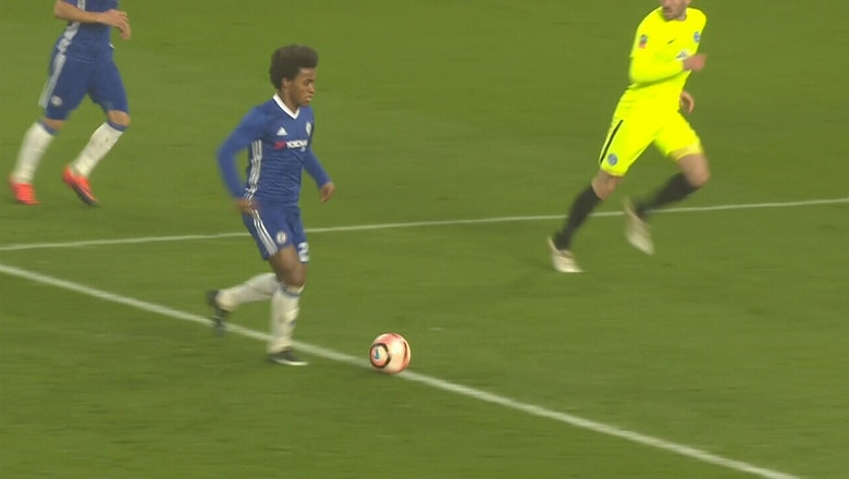 Willian makes it 3-0 against Peterborough United | 2016-17 FA Cup Highlights