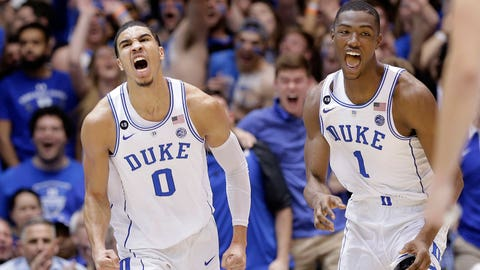 New York Knicks: Jayson Tatum, SF, Duke (Freshman)
