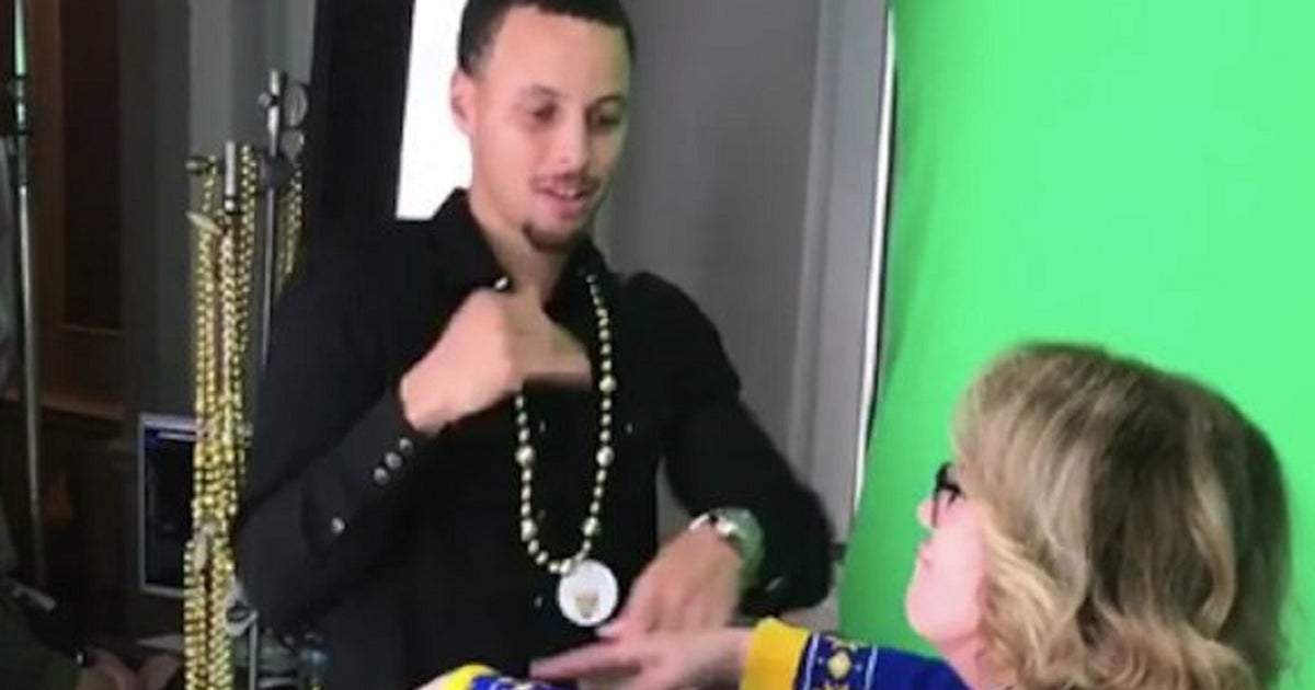 Image for Watch Steph Curry go toe to toe with 'Dance Cam Mom'