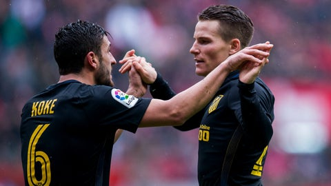Gameiro Nets Five Minute Hat-Trick In Atleti's Big Win