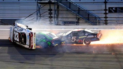 Three-car incident