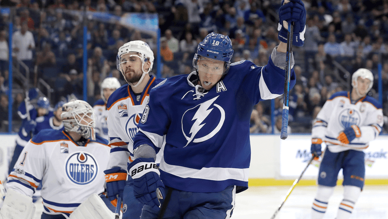 Palat and Kucherov shine in Lightning win over Oilers