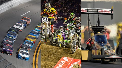 Photos courtesy LAT Photographic, Supercross and NHRA.