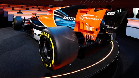 Rear view of the McLaren MCL32 Honda seen at its launch on Friday. (Photo: Steven Tee/LAT Photographic)
