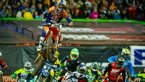 Marvin Musquin almost picked up his first career 450SX win last year in Atlanta. (Photo: Supercross)