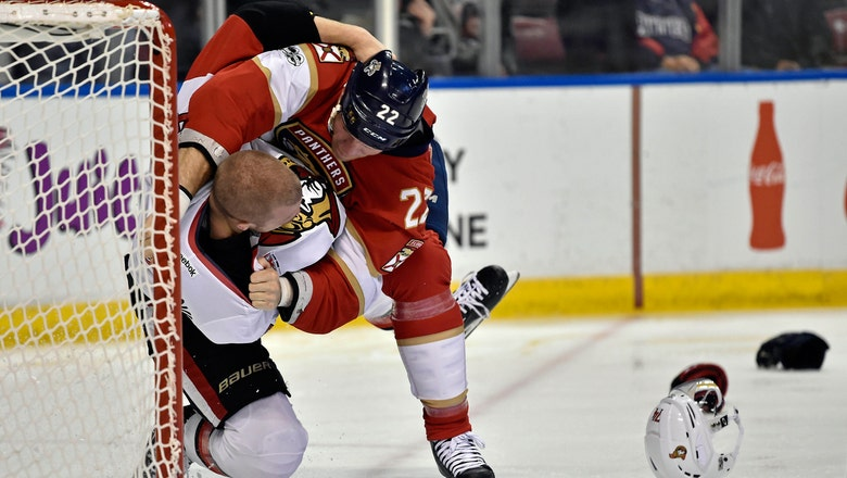 Panthers edged by Senators in feisty, fight-filled battle