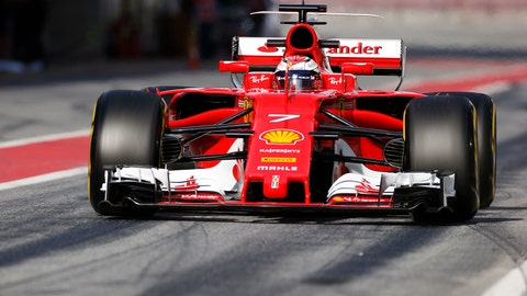 Kimi Raikkonen drives down pit road during the second day of preseason testing in Spain. (Photo: Sam Bloxham/LAT Images)