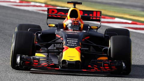 Max Verstappen was upbeat after turning the third-fastest time on Tuesday. (Photo: Glenn Dunbar/LAT Images)