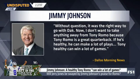 Jimmy Johnson: 'Tony healthy can win a lot of games'