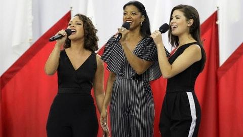 Hamilton Trio Rocks Super Bowl With 'Sisterhood'