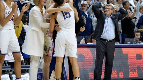 The sports world reacts to UConn's 100th straight victory