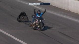 Jay Turner Wins Top Fuel Harley Pomona | NHRA 2017