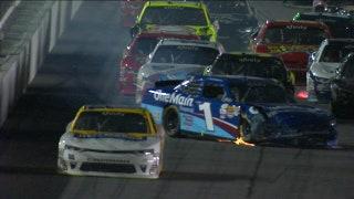 Elliott Sadler Wrecks Late at Daytona | 2017 NASCAR XFINITY | NASCAR ON FOX