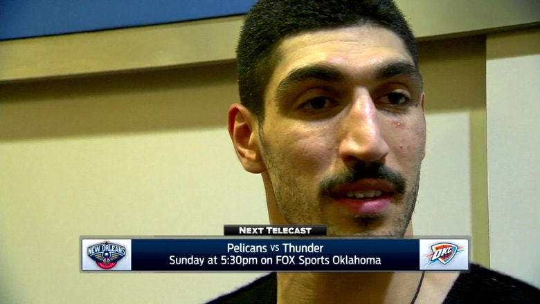 Enes Kanter on effort in OKC win over Lakers
