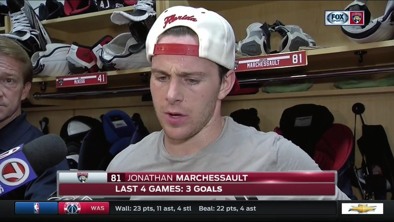 Jonathan Marchessault says Panthers need better forechecking, puck management