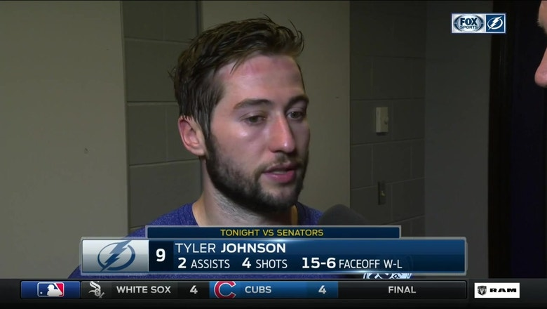 Tyler Johnson on trades: 'It's always tough when you lose big pieces of your team'