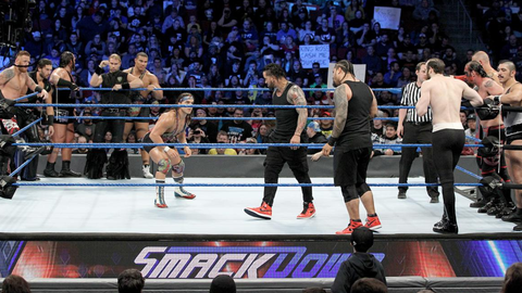 Tag team turmoil match for the SmackDown Tag Team Championship