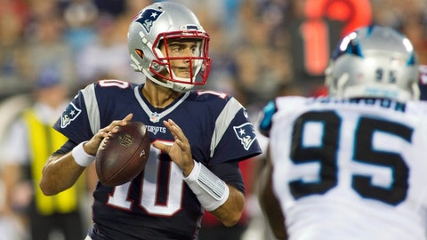 October 1: Carolina Panthers at New England Patriots, 1 p.m. ET