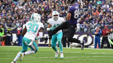 October 26: Miami Dolphins at Baltimore Ravens, 8:25 p.m. ET