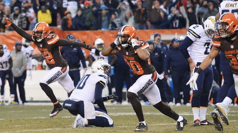 December 3: Cleveland Browns at Los Angeles Chargers, 4:05 p.m. ET