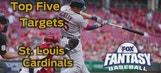 Fantasy Baseball Draft Advice: top five St. Louis Cardinals
