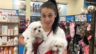 Joanna Jedrzejczyk goes shopping with her dogs | PROCast