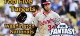 Fantasy Baseball Draft Advice: top five Washington Nationals