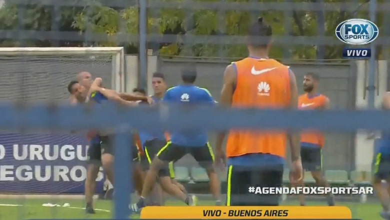 Boca Juniors training turns into all-out brawl as teammates exchange punches