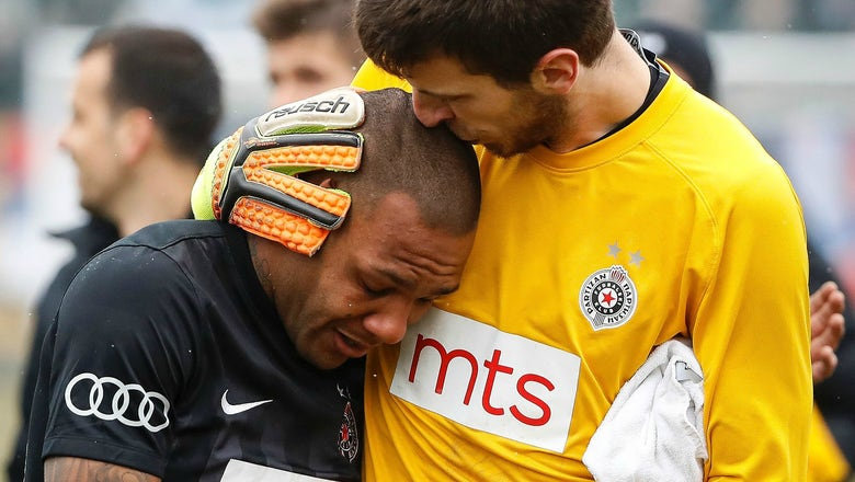 Belgrade Derby ends in tears after Brazilian player targeted with racist monkey chants