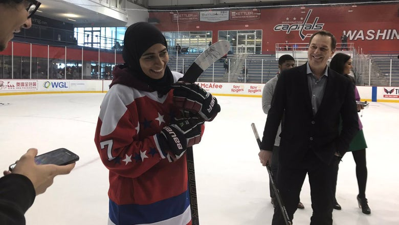 Hockey phenom from United Arab Emirates takes the ice with the Capitals