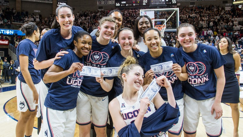 Athletes react to UConn women's basketball's 100th straight win